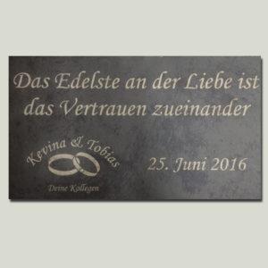 Lasergravur Schieferplatte