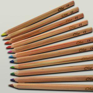 Laser - Logo auf Bleistift