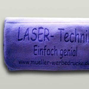 Laser - Beschriften von Fleece