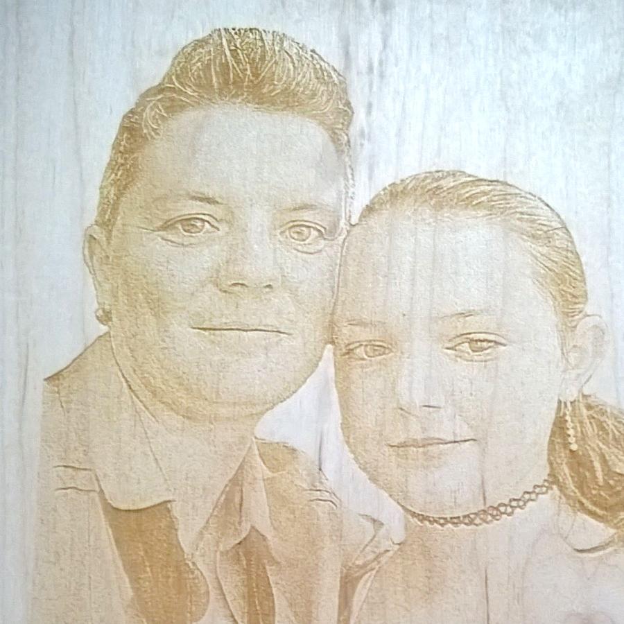 Laser - Glückwunschkarte aus Holz