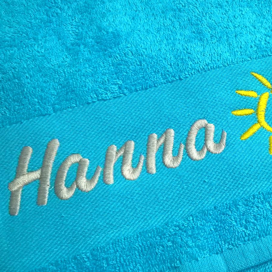 Namen auf Handtuch
