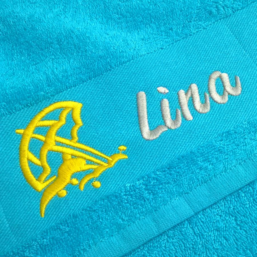 Gestickter Namen auf Handtuch